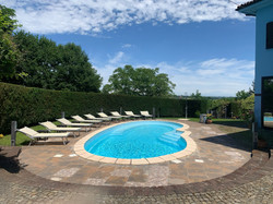 north view of pool