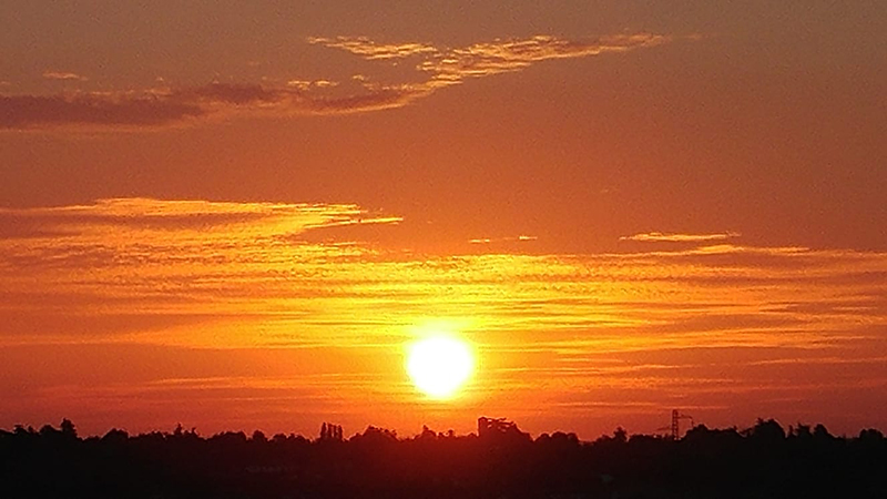 Asti sunset seen from upper balcony