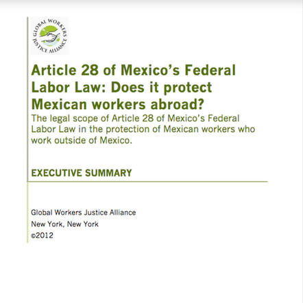 Article 28 of Mexico's Federal Labor Law