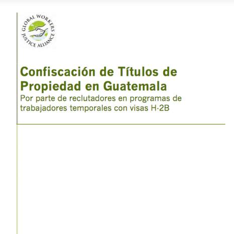 Confiscación de Títulos de Propiedad en Guatemala