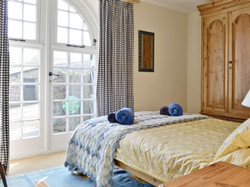 The master bedroom with double bed