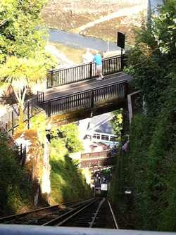A view from Lynton Cliff Railway