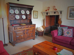 Wood burner in corner