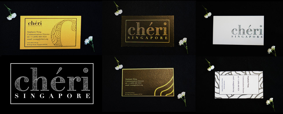 cheri employee business card variations
