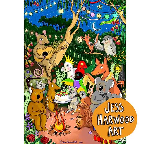 Party Animals: Christmas Fine Art Print
