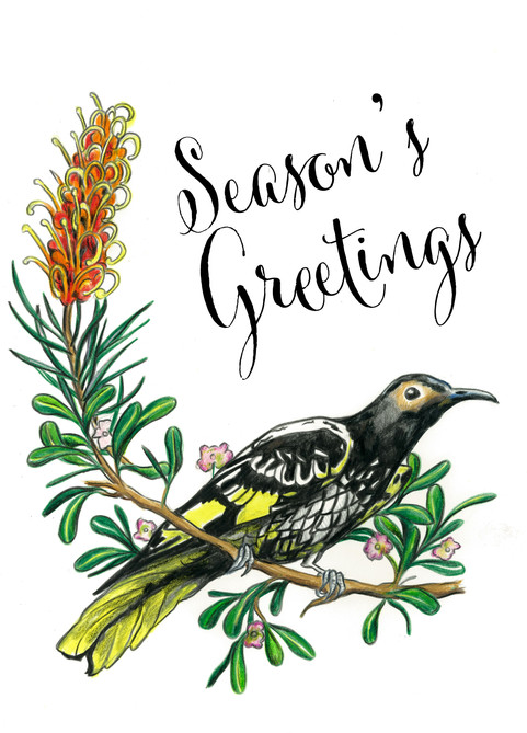 Regent Honeyeater End of Year card