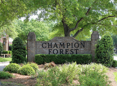 Champion Forest: A custom home subdivision with easy access