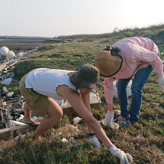 04-06 淨灘 自行車道旁潮間帶