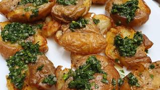 תפוחי אדמה דפוקים (מעוכים) אפויים