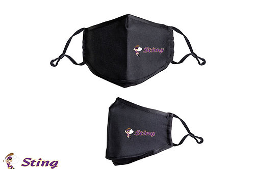 Sting Face Mask - 3-ply, filter pocket, 8.5 inches wide