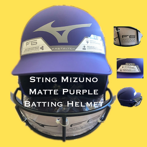 Sting-Mizuno Matte Purple Batting Helmet(2020)