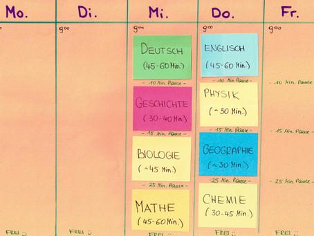 Wie organisiere ich meine Lernzeit zuhause?
