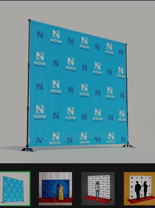 8ft x 8ft Vinyl Background with Custom Photo Background