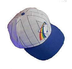 Charleston rainbows vintage baseball hat  cap blue brim throwback