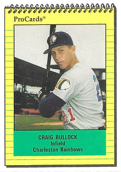 1991 charleston rainbows minor league baseball player Craig Bullock  Infield