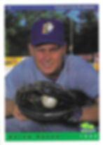 charleston rainbows 1993 minor league baseball card player Brian Seesz Catcher