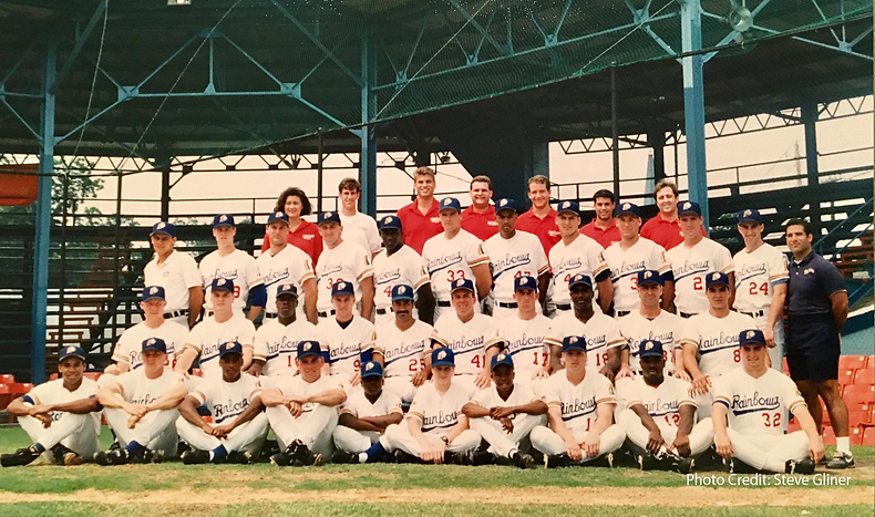 1992 charleston rainbows team photo baseball