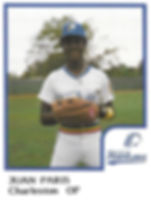 Juan Paris Baseball1986 Charleston rainbows minor league baseball