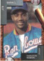 charleston rainbows 1992 minor league baseball card player Jon Barnes  Pitcher