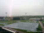 college park stadium lightning strike charleston rainbows field rain delay