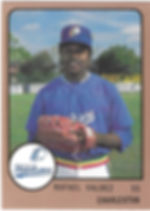 1989 charleston rainbows minor league baseball Rafael Valdez  SS