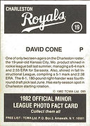 charleston royals minor league baseball david cone