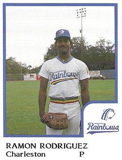 Ramon Rodriguez Pitcher 1986 Charleston rainbows minor league baseball