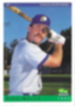 charleston rainbows 1993 minor league baseball card player Mike Welch  OF