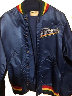 charleston rainbows minor league baseball satin jacket blue throwback vintage