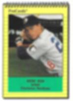 1991 charleston rainbows minor league baseball player Brent Bish Infield