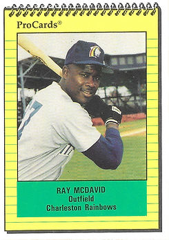 1991 charleston rainbows minor league baseball player Ray McDavid Outfield