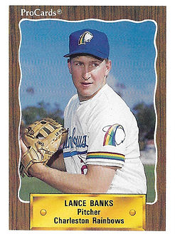 1990 charleston rainbows minor league baseball player Lance Banks Pitcher