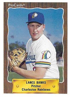 1990 charleston rainbows minor league baseball player Lance Banks Pitcher