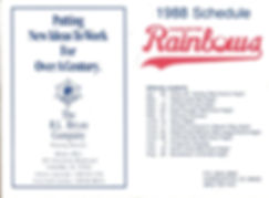 rainmbows schedule baseball