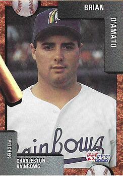 Brian D'Amatocharleston rainbows 1992 minor league baseball card player Pitcher