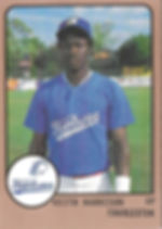 1989 charleston rainbows minor league baseball Keith Harrison OF