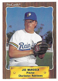 1990 charleston rainbows minor league baseball player Joe Murdock Pitcher