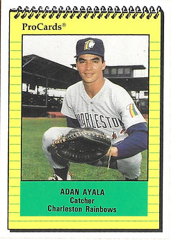 1991 charleston rainbows minor league baseball player adan ayala catcher