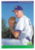 charleston rainbows 1993 minor league baseball card player pitcher jeff runion