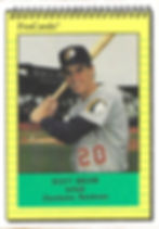 1991 charleston rainbows minor league baseball player Scott Bream  Infield