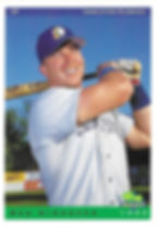 charleston rainbows 1993 minor league baseball card player bob simonson OF