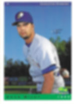 charleston rainbows 1993 minor league baseball card player Pitcher Chad Wiley