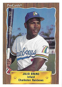 1990 charleston rainbows minor league baseball player Julio Bruno Infield