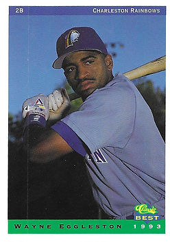 charleston rainbows 1993 minor league baseball card player 2B Wayne Eggleston