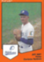Jeff Hart pitcher1989 charleston rainbows minor league baseball