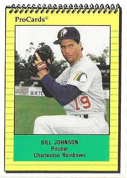 1991 charleston rainbows minor league baseball player Bill Johnson Pitcher