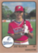 1989 charleston rainbows minor league baseball Jose Valentin INF