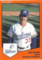 Ron Oglesby manager coach1989 charleston rainbows minor league baseball