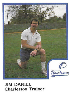 Jim Daniel Trainer1986 Charleston rainbows minor league baseball