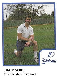 Jim Daniel Trainer1986 Charleston rainbows minor league baseball